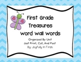 Treasures First Grade Sight Words for Word Wall and Flash Cards