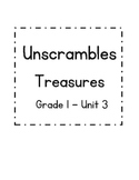 Treasures First Grade Unit 3 - Unscrambles