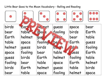 Treasures First Grade Unit 6 Week 2 Vocabulary Rolling and