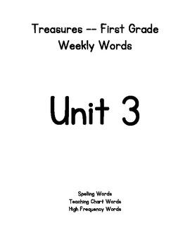 Treasures First Grade Weekly Words - Unit 3
