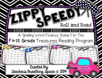 Treasures 1st Grade - Zippy Speedy Roll And Read - Spellin