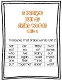 Treasures Grade 1: Sight Words Unit 2