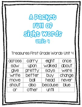 Treasures Grade 1: Sight Words Unit 4