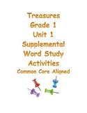 Treasures Grade 1 Unit 1 Word Study Activities Common Core