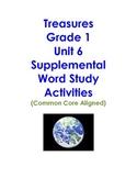 Treasures Grade 1 Unit 6 Supplemental Word Study Activitie