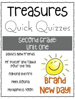Treasures Grade 2 Unit One Comprehension Quizzes
