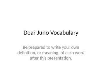 Treasures Grade 3 Dear Juno Vocabulary PPT for EL Students