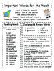 Treasures - Grade 3 - Unit 4 Spelling Word Lists