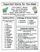 Treasures - Grade 3 - Unit 4 Spelling Word Lists