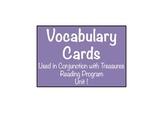 'Treasures' Grade 4 Vocabulary Cards: Unit 1