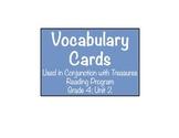 'Treasures' Grade 4 Vocabulary Cards: Unit 2