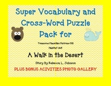 Treasures Grade 4 Vocabulary & Crossword PACK Unit 5 A Walk in the Desert GATE