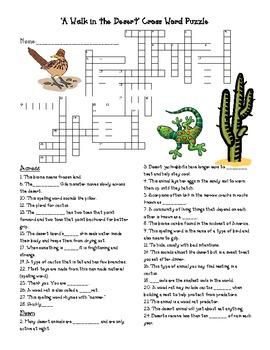 Treasures Grade 4 Vocabulary & Crossword PACK Unit 5 A Walk in the Desert GATE