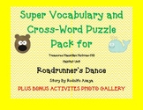 Treasures Grade 4 Vocabulary & Crossword PACK Unit 5 Roadrunner's Dance GATE