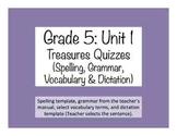 'Treasures' Grade 5 Quizzes (Spelling, Vocab., Grammar & D