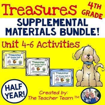 Treasures 4th Grade Units 4 - 6 Half Year Supplemental Resources Bundle