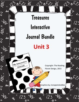 Treasures Interactive Journal Unit 3 Bundle (NOT TEXAS)