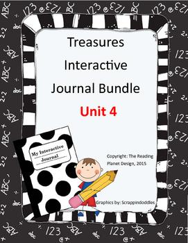 Treasures Interactive Journals Unit 4 Bundle (NOT TEXAS)