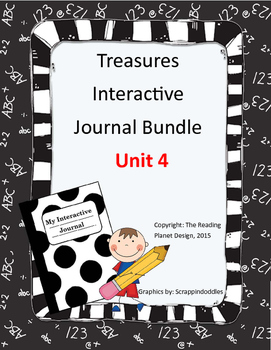 Treasures Interactive Journals Unit 4 Bundle (NOT TEXAS)