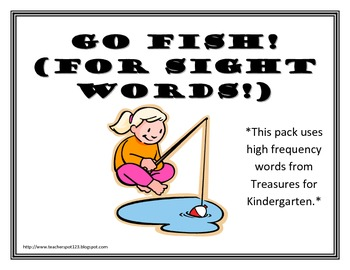 Treasures Kindergarten Sight Words Go Fish
