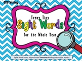 EDITABLE Treasures Kindergarten Tiny Sight Word Hunts (Whole Year)