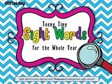 EDITABLE Treasures Kindergarten Tiny Sight Word Hunts (Who