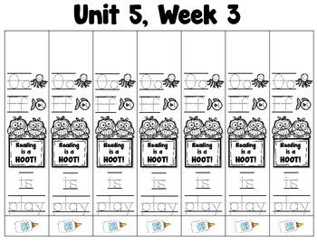 Treasures Kindergarten  --- Weekly Phonics and Sight Word Bracelets