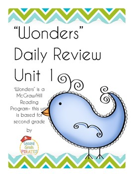 """""""Wonders"""" Unit 1 Morning Work for Second Grade"""