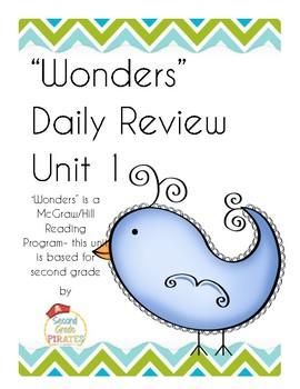 """Wonders""- McGraw Hill Unit 1 Morning Work"