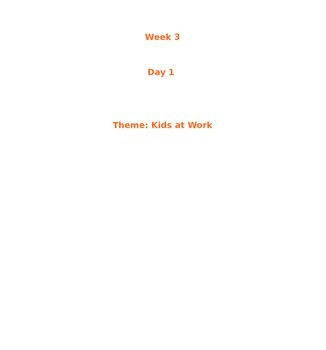 Treasures McGraw Hill Unit 1 Week 3