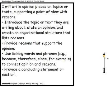 Treasures Mississippi CCSS Objectives Aligned to Weekly Stories Unit 6