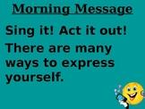 Treasures Morning Message Unit 5 week 1-5