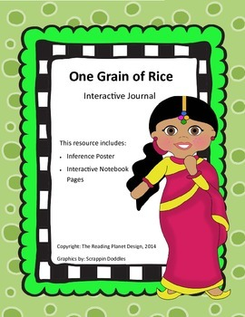 Treasures - One Grain of Rice (Interactive Journal and Posters)