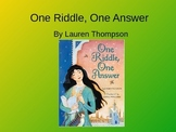 Treasures One Riddle One Answer Vocabulary PowerPoint