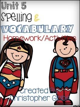 Treasures Reading 2nd Grade Unit 5 Spelling/Vocabulary