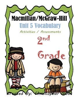 Treasures Reading 2nd Grade Unit 5 Vocabulary