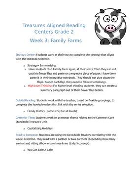 Treasures Reading Centers Week 3 Grade 2