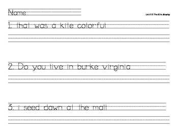 Treasures Reading Daily Oral Language Unit 5 Week 2 The Kite