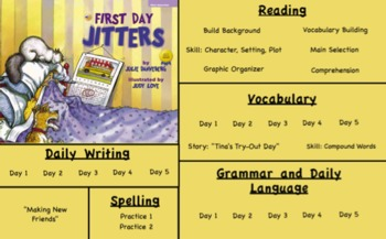 Treasures Reading- First Day Jitters Unit 1 Week 1 Flipchart Third Grade
