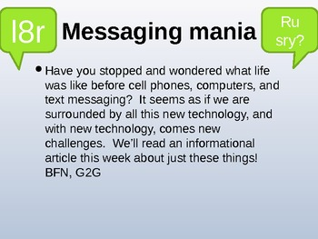 "Treasures Reading - ""Messaging Mania"" - Vocabulary and Spelling"