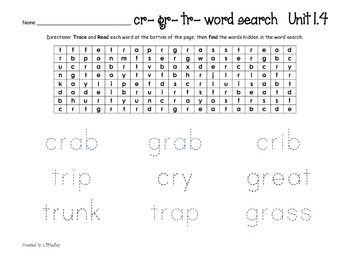Treasures Reading Program First Grade  Word Search Units 1-6