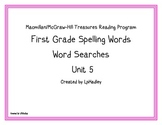 Treasures Reading Program First Grade  Word Searches Unit 5
