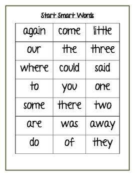 Treasures Reading Program Second  Grade  Take home Sight word cards Units 1-6