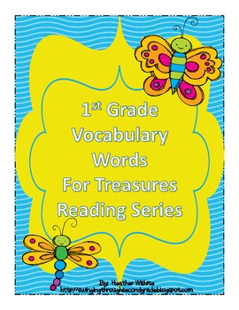 Treasures Reading Resources 1st Grade - Oral Vocabulary Word Cards