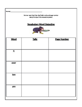 Treasures Reading Series 1st Grade 1.2 I Can Can You Vocab Detective Game