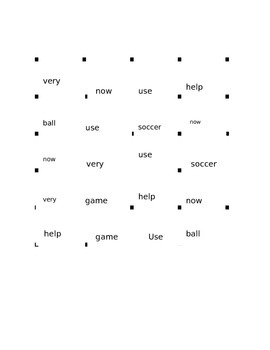 Treasures Reading Series 1st Grade 1.5 Soccer Vocab Game