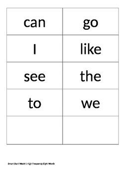 Treasures Reading Series 1st Grade Smart Start Vocabulary Word cards