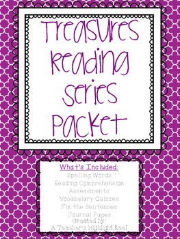 Treasures Reading Series - Reading Assessments with Spelling Lists