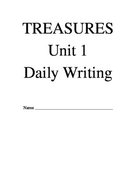 Treasures Reading Series Third Grade Writing Prompt Packet -Unit 1