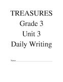 Treasures Reading Series Third Grade Writing Prompt Packet